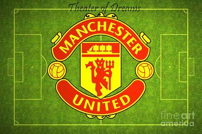 Manchester United Theater Of Dreams Large Canvas Art, Canvas Print, Large Art, Large Wall Decor Poster by David Millenheft