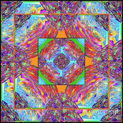 Poster featuring the digital art Mandala #1 by Loko Suederdiek
