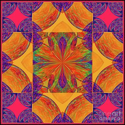 Poster featuring the digital art Mandala #2  by Loko Suederdiek