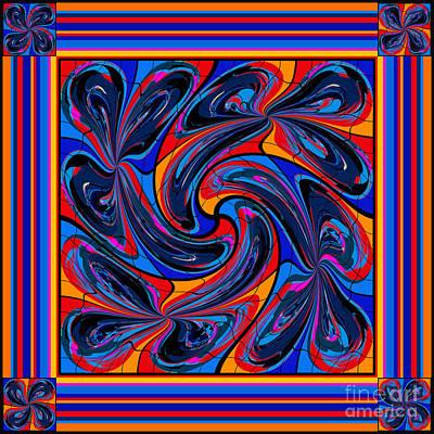 Poster featuring the digital art Mandala #3 by Loko Suederdiek