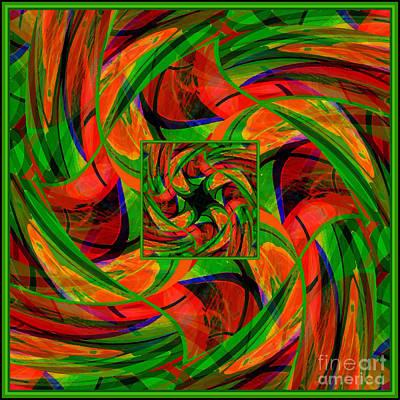 Poster featuring the digital art Mandala #36 by Loko Suederdiek