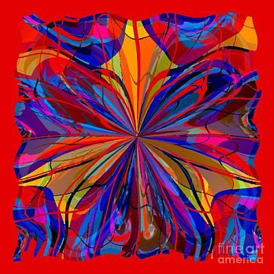 Poster featuring the digital art Mandala #4 by Loko Suederdiek