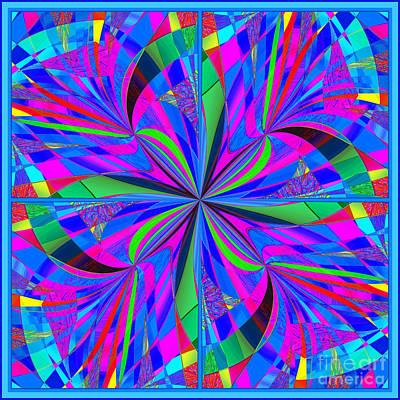Poster featuring the digital art Mandala #46 by Loko Suederdiek