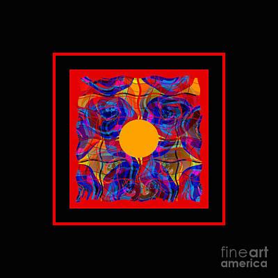 Poster featuring the digital art Mandala #5 by Loko Suederdiek