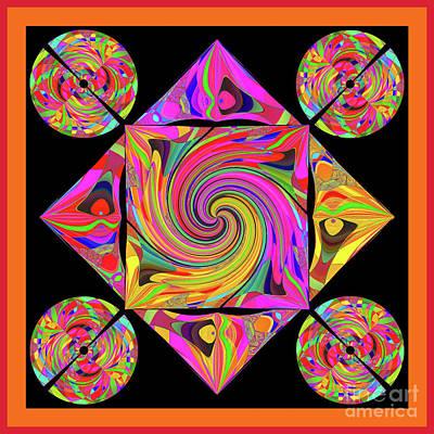 Poster featuring the digital art Mandala #50 by Loko Suederdiek