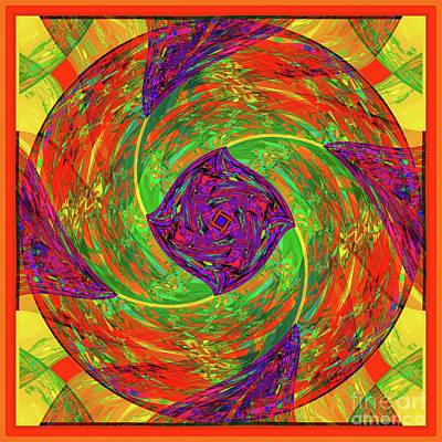 Poster featuring the digital art Mandala #55 by Loko Suederdiek