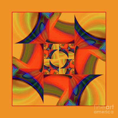Poster featuring the digital art Mandala #56 by Loko Suederdiek