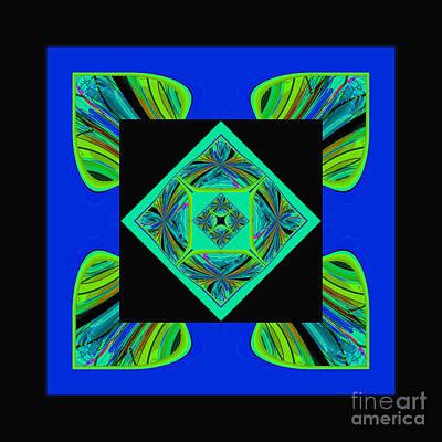 Poster featuring the digital art Mandala #6 by Loko Suederdiek