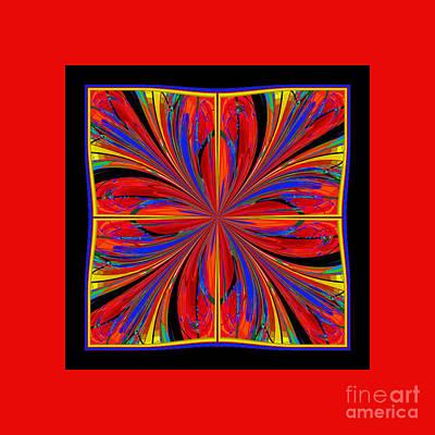 Poster featuring the digital art Mandala #8 by Loko Suederdiek