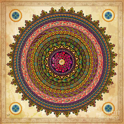 Mandala Armenian Decorative Art Poster by Bedros Awak