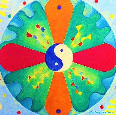 Poster featuring the painting Mandala by Denise Fulmer
