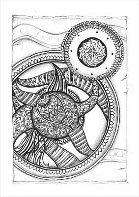 Mandala Doodle Art Poster by Prajakta P