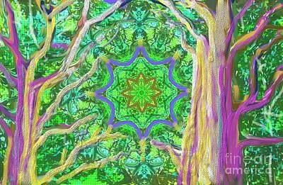 Mandala Forest Poster