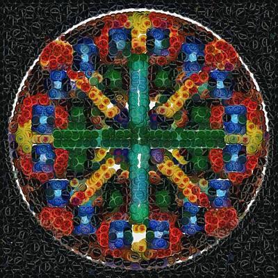Mandala In Bottlecaps Poster by Mario Carini