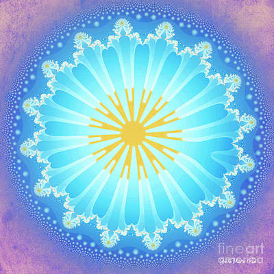 Poster featuring the digital art Mandala by Jutta Maria Pusl
