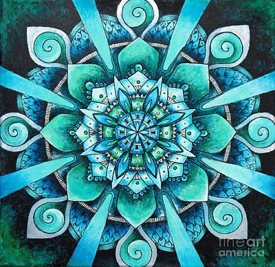 Mandala Of Depth Poster by Home Art
