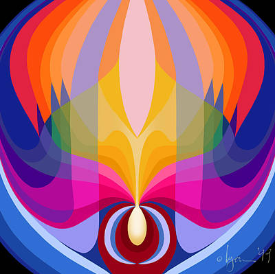 Mandala Sacred Poster by Angela Treat Lyon