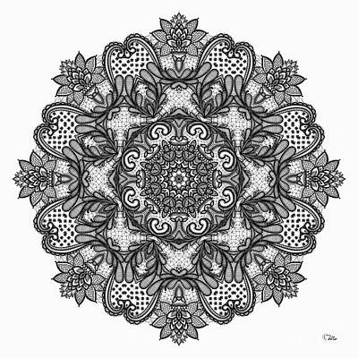 Poster featuring the digital art Mandala To Color 2 by Mo T
