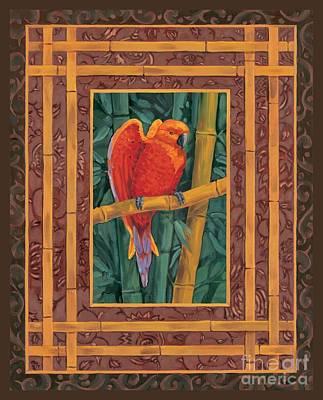 Mandarin Lovebird Poster by Paul Brent