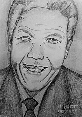 Mandela Art Poster by Collin A Clarke