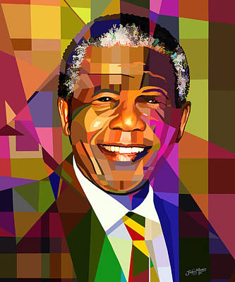 Mandela Poster by James  Mingo