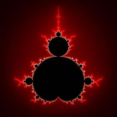 Mandelbrot Set Black And Red Square Format Poster