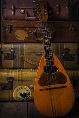 Mandolin And Suitcases Poster
