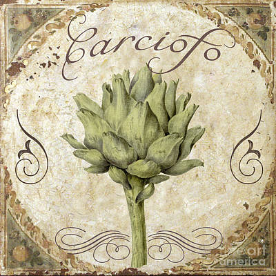 Mangia Carciofo Artichoke Poster by Mindy Sommers