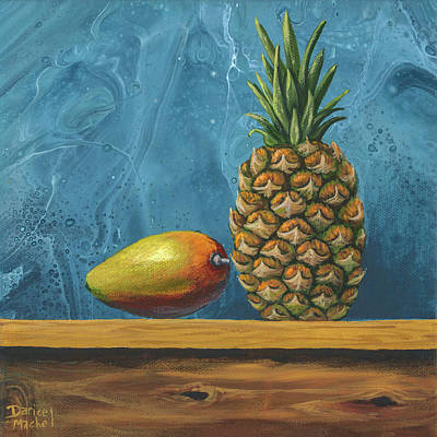 Poster featuring the painting Mango And Pineapple by Darice Machel McGuire