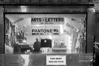 Manhattan Art Supply Store Poster by Thomas Marchessault