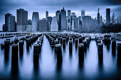 Poster featuring the photograph Manhattan Blues by Chris Lord