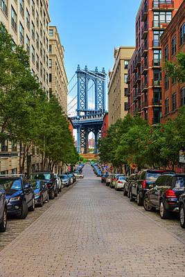 Poster featuring the photograph Manhattan Bridge by Emmanuel Panagiotakis