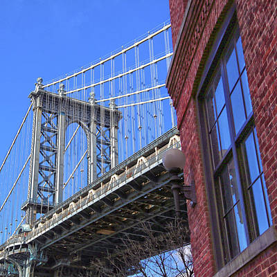 Poster featuring the photograph Manhattan Bridge by Mitch Cat