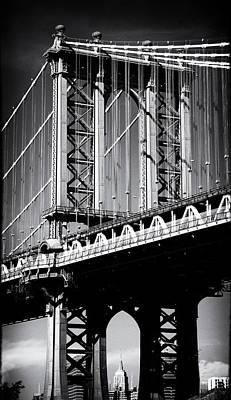 Manhattan Bridge Noir Poster by Jessica Jenney