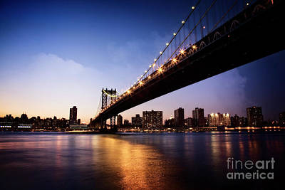 Poster featuring the photograph Manhattan Bridge by Scott Kemper