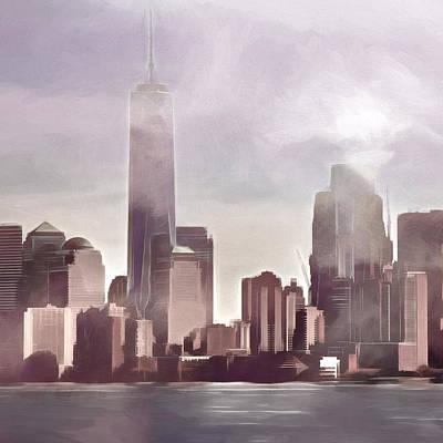 Manhattan Drama Poster by Lutz Baar