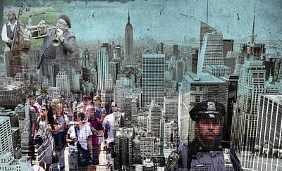 Manhattan Poster by Judi Saunders