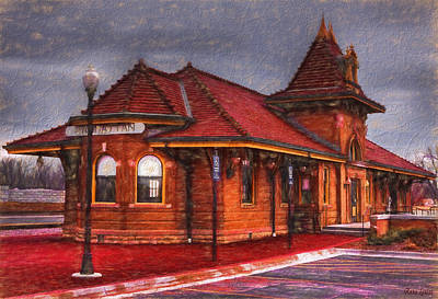 Manhattan Kansas Train Depot Poster