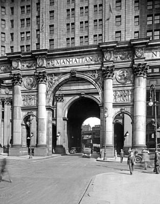 Manhattan Municipal Building Poster by Underwood & Underwood