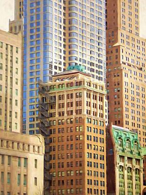 Manhattan Painterly Poster by Lutz Baar