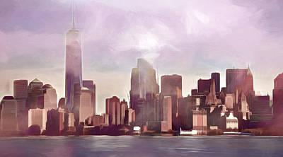 Manhattan Panoramic Poster by Lutz Baar