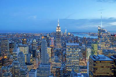 Manhattan Skyline New York City Poster by Az Jackson