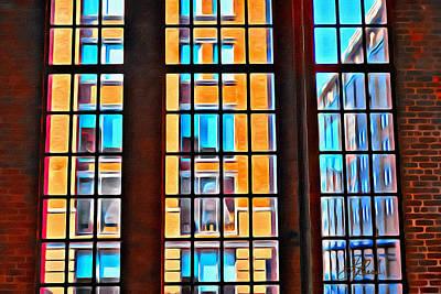Manhattan Windows Poster by Joan Reese