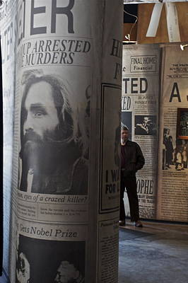 Poster featuring the photograph Manson Maniac by Kate Purdy