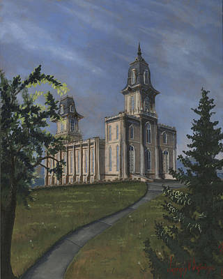 Manti Temple East Doors Poster