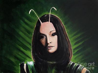Mantis Poster by Tom Carlton
