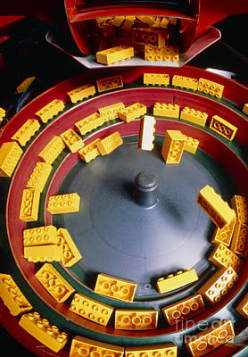 Manufacture Of Lego Toy Bricks Poster by Klaus Guldbrandsen