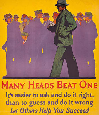 Many Heads Beat One Poster by American School