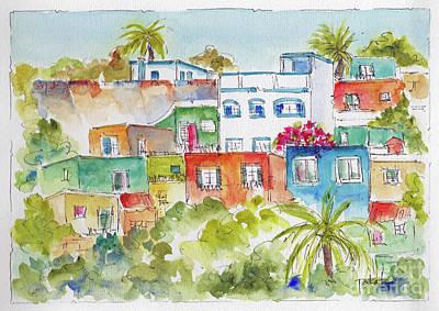 Manzanillo Hillside Poster