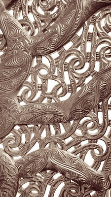 Maori Abstract Poster